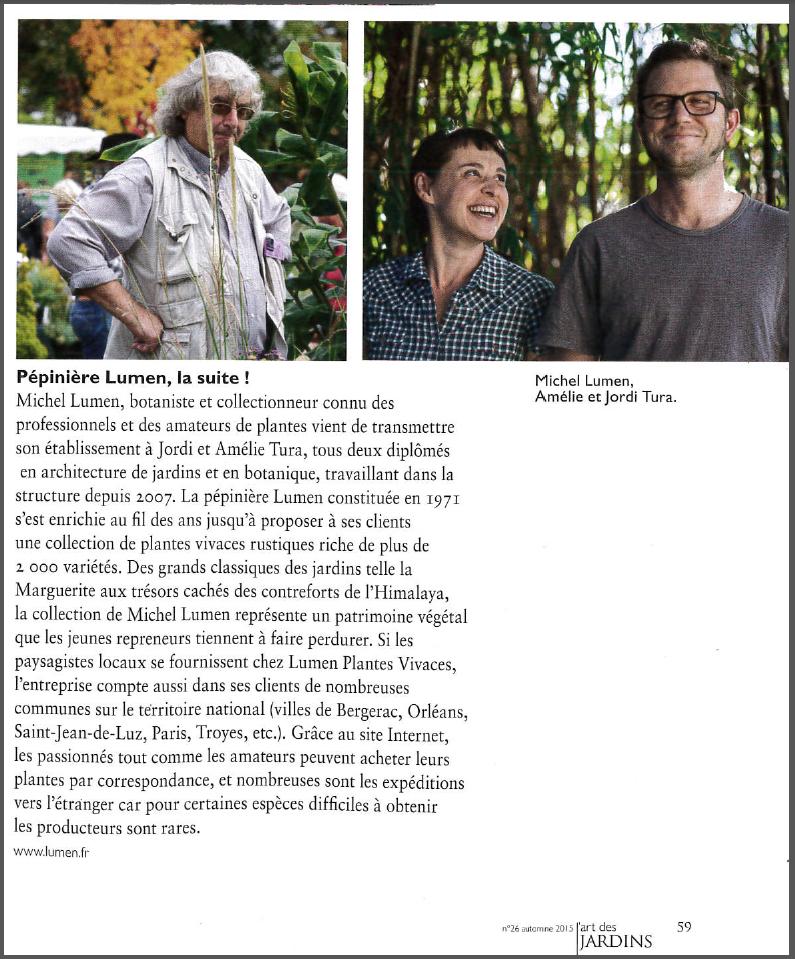 article ART DES JARDINS